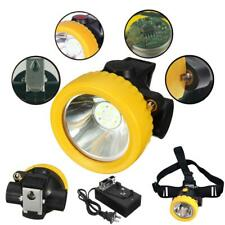 Casco De Led Linterna Minero Sin Cable Cabeza de seguridad de luz lámpara de casco Antorcha