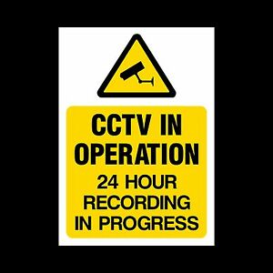 CCTV Sign, Sticker - All Sizes & Materials - Security, Camera, Warning  (MISC15)