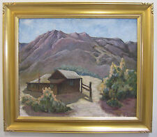 George Corbit Antique Early California WPA Era Mountain Landscape Oil Painting
