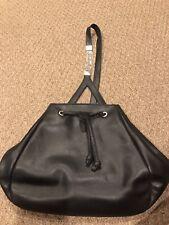 b112c07dab Gianni Versace Black Leather Drawstring Shoulder Bag