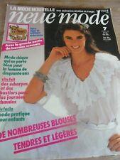 "👗 MAGAZINE VINTAGE ""NEUE MODE MODE CHIC BLOUSE CHARMANTE JUILLET 1982"
