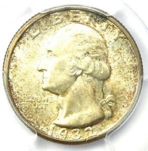 1932-D Washington Quarter 25C - Certified PCGS MS63 CAC (BU UNC) - Rare Coin!