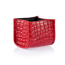 Makeup Cosmetic Brush Organizer Holder Lipstick Case Display Stand Bag Red