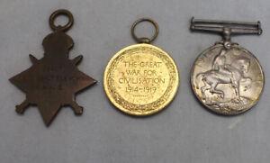 WW1 Trio Medal Group