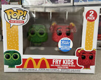 Fry Kids 2 Pack Funko Shop Exclusive Green / Red McDonalds Funko Pop, IN HAND