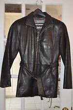 Wilson's Pelle Studio Women's Leather  Jacket Black Size S Pre-Owned Exc cond.