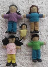 Lakeshore Ethnic Soft and Poseable Hispanic/Brown Family Set of 5 HTF