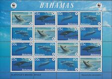 BAHAMAS :2007 Endangered Species /WWF-Whales  sheetlet SG 1449-52 x 4