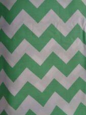 New Pottery Barn Harper Chevron Green White Crib Sheet