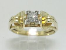 Solitär Brillant Ring 585 Gelbgold 14Kt Gold 1 Brillant 0,25ct  Handarbeit