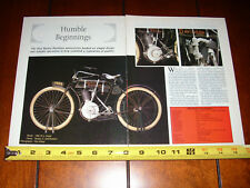 1906 HARLEY DAVIDSON MODEL 2 - ORIGINAL 1995 ARTICLE