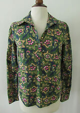 Womens LILLY PULITZER Blue Green Pink Floral Button Front Top ~ Size 2 (A42)