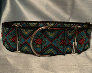 Martingale Dog Collar. 50mm ( 2 Inch ) Width.  Fully Lined And Adjustable.