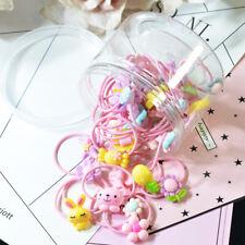30x Hair Ropes Elastic Rubber Hair Bands Girls Hair Accessories Kid Headwear