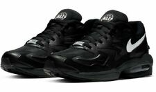 Size 11.5 Nike Air Max2 Light men's black leather Max 2 trainers / 11 and a half