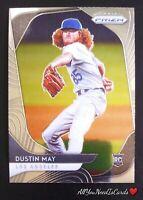 Dustin May 2020 Panini Prizm Baseball Rookie Card RC #126 Los Angeles Dodgers