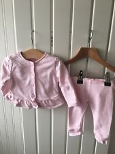 Baby Girl's Clothes Newborn - 2pc Outfit - Button Fasten Jacket & Leggings Set