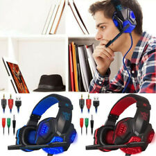3.5mm Over Ear Gaming Headset with Mic and LED Light for Laptop Cellphone PS4