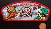 TAKACHSIN LODGE 173 OA SAGAMORE COUNCIL 269 425 PATCH GARFIELD FLAP RED BORDER