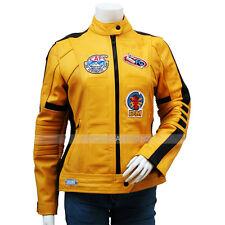 Kill Bill Uma Thurman Yellow Biker Leather Costume Jacket