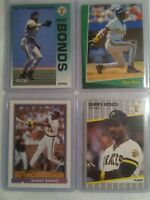 4 Card Lot Of Fleer 1989 & 1992 Barry Bonds & 1992 Score Select & 1991 Bowman