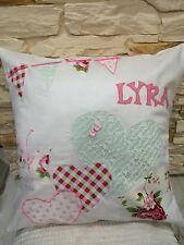 "Personalised Cushion Girls Birthday Any Name Date 16""x16"" Gift Keepsake"