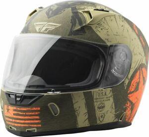 Fly Racing Revolt FS Liberator Helmet Matte Brown/Orange
