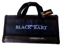 "Black Bart 6-Pocket Rollup Lure Bag - Small 12"" x 5"" - Black - Lure Storage Bag"