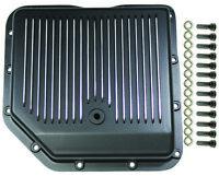 Chevy Aluminum Finned Black TH-350 TH350 Turbo 350 Transmission Pan Trans