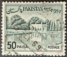 Stamp Pakistan 1961 50p Shalimar Gardens Used