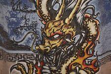 Dragon Acid Tie Dye Surfer Psychedelic Wizard Hippie Punk Xl T-Shirt Vtg 80s 90s
