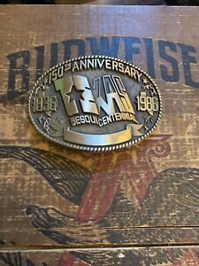 Texas Sesquicentennial 1836-1986 Brass Belt Buckle