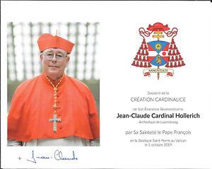 Eigenh. Autogramm Jean-Claude Cardinal Hollerich, EB v. Luxemburg