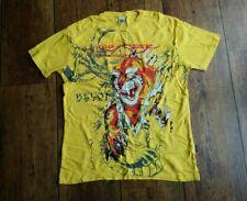 Mens Designer Don Ed Hardy T shirt by Christian Audigier - Yellow - Size XL