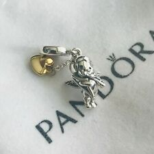 Genuine Sterling Silver PANDORA CUPID AND YOU Pendant Charm 767796CZ - S925 ALE