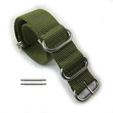 5 Ring Ballistic Army Military Green Nylon Fabric Replacement Watch Band Strap