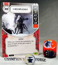 Star Wars Destiny Spirit of Rebellion E-Web Emplacement #5 Rare w/ Premium Die