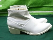 new YRU+West+Western+White+Ankle sexy cowboy Boots  SIZE  6
