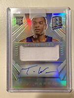 2014-15 Panini Spectra  Warren RC Silver SPECTACULAR /49  Prizm Jersey Auto  TJ