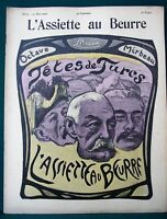 "L'Assiette au Beurre #61 ""Tetes de Turcs"" 1902 Noted Frenchmen Satire Art"