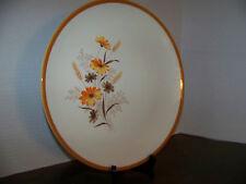 """Taylor Smith & Taylor 12.5"""" Chop Plate Round Platter Orange Floral Vintage"""
