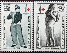 Timbres Neufs  France LUXE Num Yvert 1400 à 1401 Croix Rouge  1963