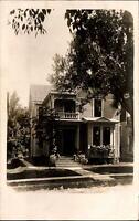 356? Hill Street ~ Dubuque Iowa ~ 1909 RPPC real photo to WALENTA Calmar IA