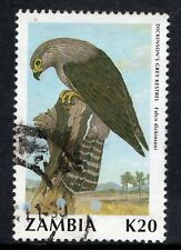 ZAMBIA = 1990 Birds (2nd Series), K20 Dickinson`s Kestrel. SG636. Fine Used (c)