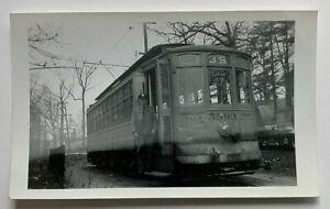 Vintage Photo Snapshot Baltimore Transit Co Trolley Streetcar #5593 w/ motorman