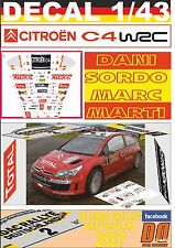 DECAL 1/43 CITROEN C4 WRC D.SORDO R. DEUTSCHLAND 2007 DnF (01)