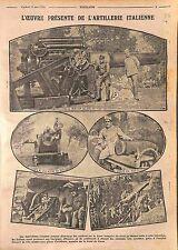 Artillerie Mortier Obus Culasse de 305 Front du Carso Battle of Isonzo WWI 1916