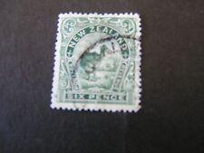 NEW ZEALAND, SCOTT # 78, 6p. VALUE GREEN KIWI BIRD 1898 ISSUE USED