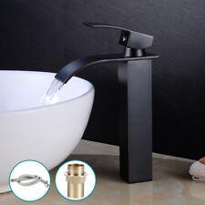 Wasserarmatur Waschtischarmatur Wasserfall Wasserhahn Schwarz Badarmatur Modern