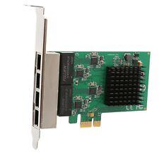 Syba SI-PEX24042 4 port Gigabit Ethernet PCI-e X1 Network Interface Card